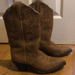 Shyanne Light Brown Leather Cowboy Western Boots